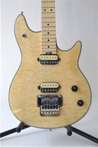 Желтая гитара; Бесплатная доставка; Бурливуд; Стеганый шпон