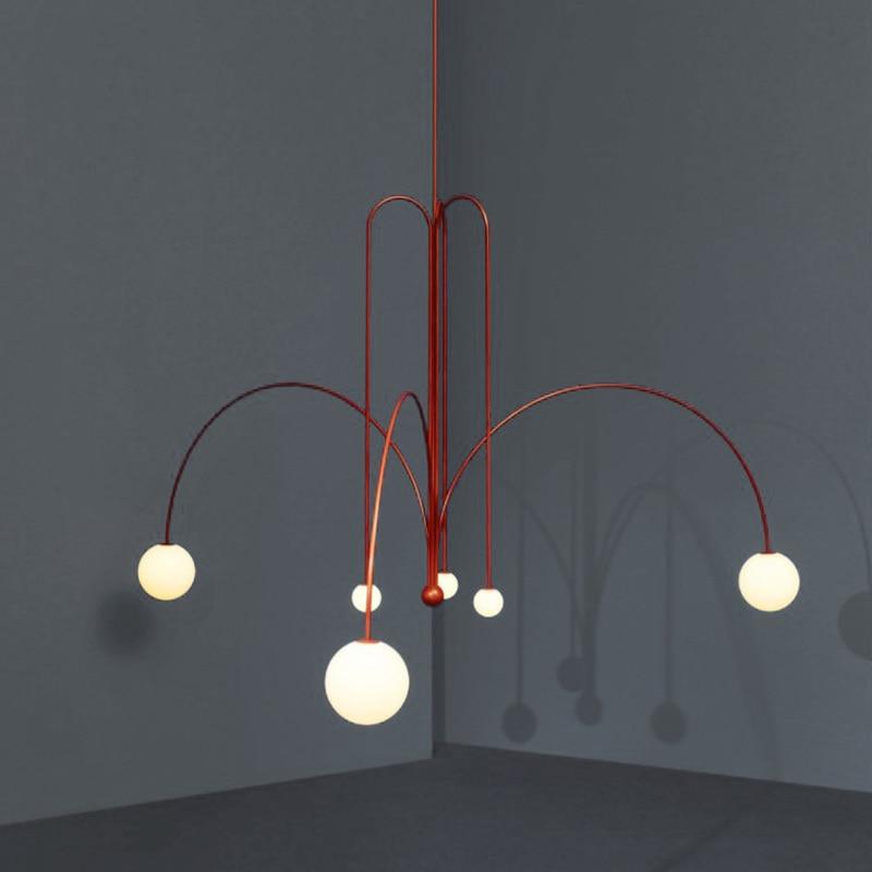 Nordic Glass Ball Home Decoration E27 Light Fixture Bedroom  Restaurant  Luminaire Suspendu Luminaria Pendente