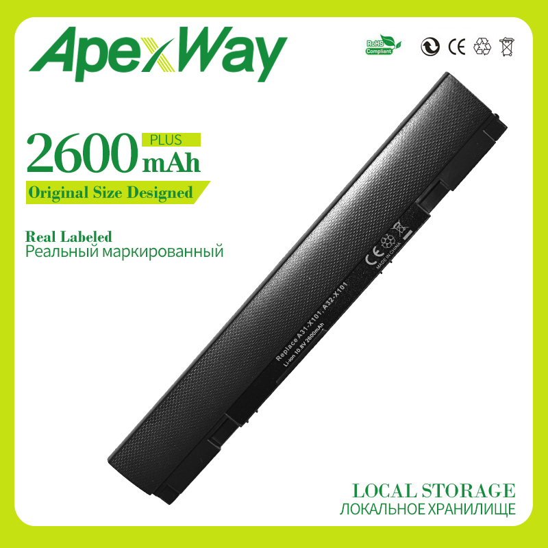 ApexWay <font><b>2200mAh</b></font> New Laptop <font><b>Battery</b></font> A31-X101 A32-X101 For Asus Eee PC X101 X101C X101CH X101H Series image