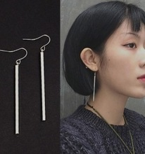 E1150 Korean long temperament simple joker long earrings