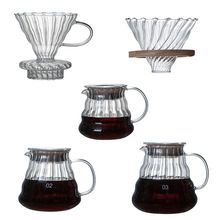 Pour Over Coffee Dripper Glass Slow Brewing Accessories for Home Cafe Restaurant