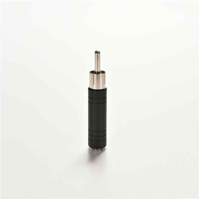 RCA Male Plug untuk 1/8 3.5 Mm Female Jack Audio Adaptor Converter Konektor Mono Jack Socket untuk Phono Plug Adaptor 1 Pc