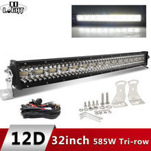 CO LIGHT 12D 3-Row Led Offroad Light Bar 32inch 585W 4x4 Led Work Light Bar 12V 24V Combo Led Beams for Jeep SUV Boat Niva Truck co light super bright 3 row 32inch led bar 585w combo beam led light bar for trucks boat offroad 4wd 4x4 suv atv driving 12v 24v