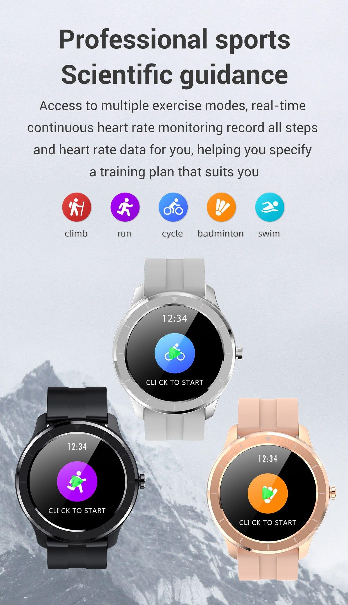 Hf3a7d17dba6247f599dd21b48f744eb8i LEMFO Full Touch Screen Smart Watch Waterproof Smartwatch Men