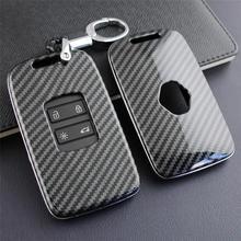 Key Case Fob Bag Holder ABS Hard Shell Cover Parts Fit For Renault Koleos 2017-2019 Kadjar Megane Key Case Cover Car Accessories