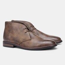 Tamaño 7-12 hombres botas de desierto Retro americano estilo de los hombres botas de tobillo # KD581