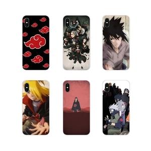Аксессуары чехлы для телефонов аниме Наруто Акацуки для Samsung A10 A30 A40 A50 A60 A70 M30 Galaxy Note 2 3 4 5 8 9 10 PLUS