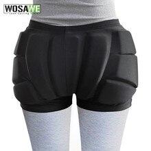 WOSAWE – Short de Protection des hanches pour enfants et adultes, coussin de Snowboard, patins de Ski, Hockey, équitation, Protection des fesses, vélo