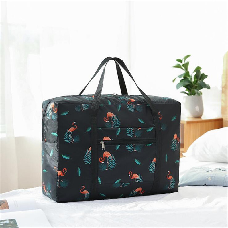 Foldable Nylon Travel  Bag Unisex Large Capacity Tote Bag Luggage Packing Cube Compression Portable WaterProof Weekend Handbags