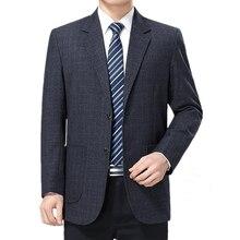 Plaid Blazer Men Jacket Suits Costume Outwear Long-Sleeve Business Male Masculino Straight