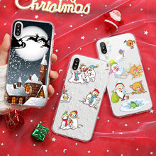 Case For iphone 7 8 6 6S Plus 5 5S SE 5C Soft TPU Clear Case For iphone XS X XR 11 Pro Max 4S 4 Merry Christams Case Santa Bear(China)