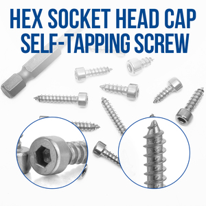 Image 2 - 372pcs m2.6 m3 m3.5 m4 hex socket cap head self tapping screw set stainless steel hexagon socket tapping screw assorted kit