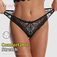 Logirlve Sexy Underwear Women Lace Panties G-String Lingerie Low Waist Seamless Soft Ladies Briefs Thongs Underpanty Femmer