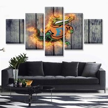 HD Print Canvas Painting Home Decorative 5 Panel Basketball Sport Modular Picture Wall Art Prints Panels Poster For Living Room
