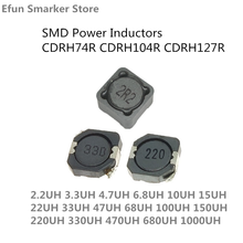 10pcs SMD Power Inductors CDRH74R CDRH104R CDRH127R 2.2 3.3 4.7 6.8 10 15 22 33 47 68 100 150 220 330 470 680 1000UH 1MH