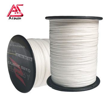 AS 12 Strands Lure PE Braided Line Grey /White Color Line 100M 300M 500M 1000M Wire Multifilament Weaving Net Fishing Line meredith 4 strands braided pe fishing line 300m 500m 1000m 15 80lb multifilament smooth fishing line for fishing lure bait