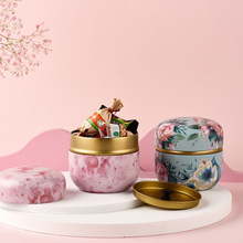 Tea-Containers Packing-Box Cans Tinplate-Cans Candy Small Mini Japanese-Style Round Snacks