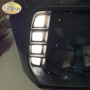 Image 1 - 2 adet Honda Civic Type R 2018 2019 Led gündüz farları sarı dönüş sinyali lambası ABS su geçirmez