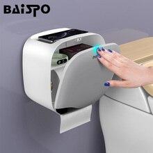 BAISPO водонепроницаемый держатель для туалетной бумаги настенное крепление туалетной бумаги лоток рулон тканевой трубки домашний ящик для хранения для ванной комнаты Органайзер