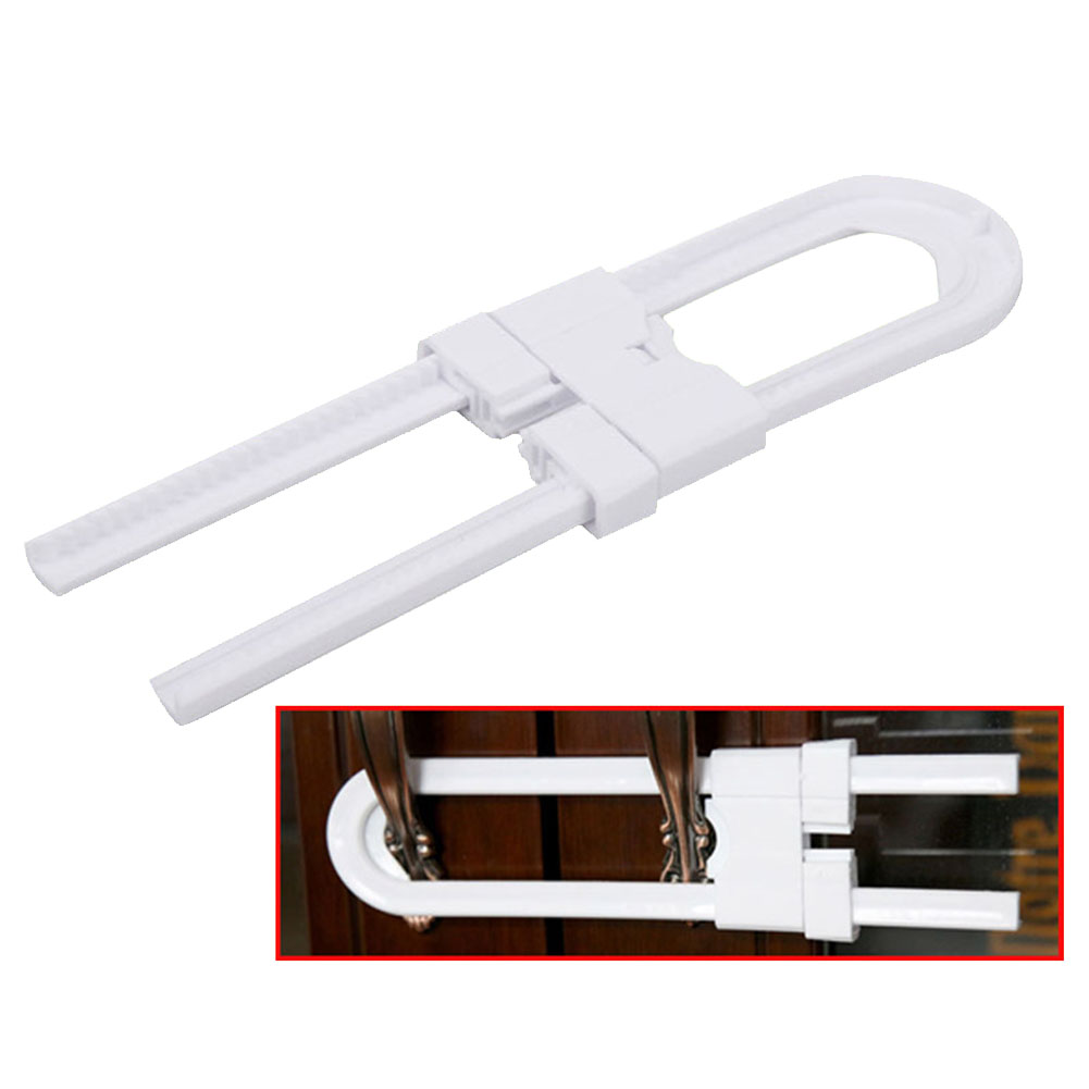 2Pcs/pack Safety Lock Handles Latches Storage Door Kitchen For Cabinet Baby Protection Multifunction Sliding Knobs Kids U Shaped