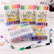 Drawing-Pens Art-Supplies Kids Gift-Set Dual-Tip Brush-pen-set:12/18/24-colors Portable