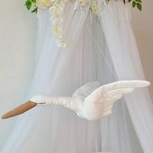 Parede pendurado swan recheado boneca parede teto pendurado decoração do bebê calmante travesseiro casa decoração quarto pendurado ornamento
