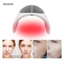 Foldable PDT Acne Removal Machine 7 Colors PDT Led Light Facial Acne Treatment Face Whitening Skin Rejuvenation Therapy Device heating light machine for face messager acne spot skin rejuvenation light photon led therapy bacteria killing removal improve