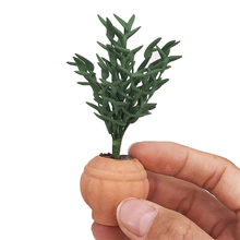Artificial 1/12 Dollhouse Flower Miniature Exquisite Green Plant Ornament Decor 4 Styles mini Aatificial Plant Dollhouse Decor(China)