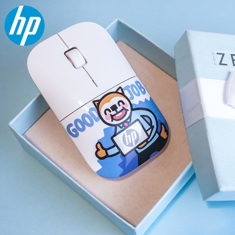 Original HP Cartoon Mouse 1200 DPI Wireless Gaming PC Limited Edition Mice Z3700 Personality Creative Baby Girl Gift for Laptop