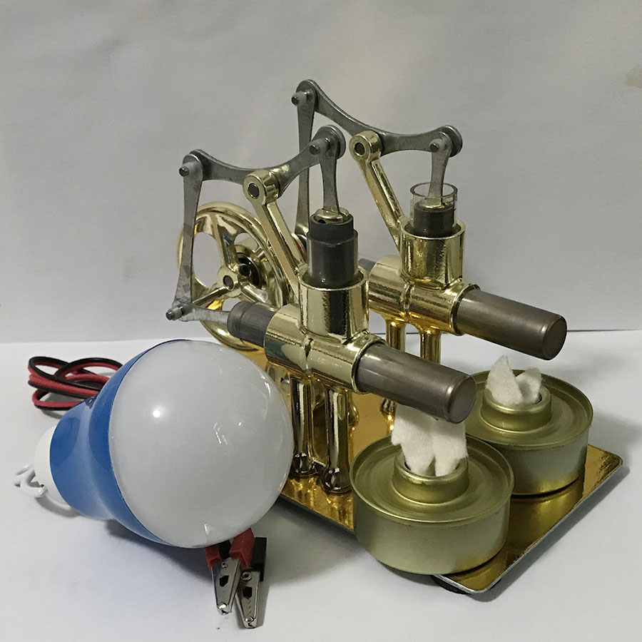 Diy Model Craft Discover Alternator School Supplies Accessories Stirling Engine Balanced Engine Model Hot Steam Education