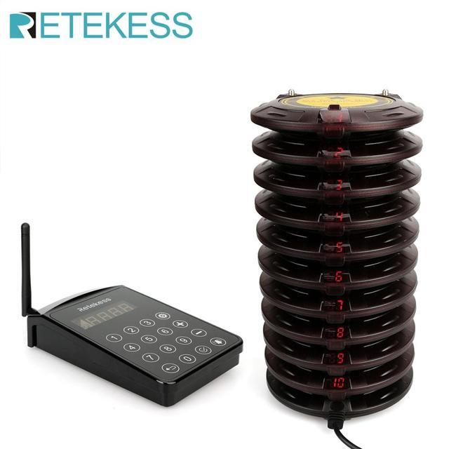 Retekess – système d'appel de serveur de Restaurant TD103, avec 10 récepteurs, pour la clinique, le camion alimentaire, l'hôpital 1