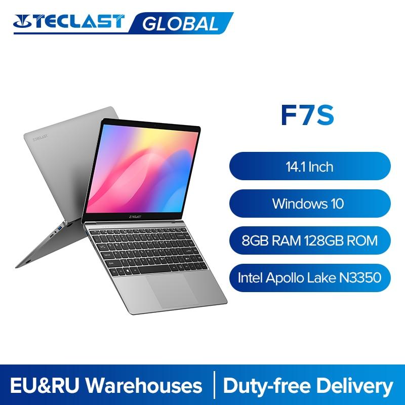 Teclast f7s 14.1 Polegada fino portátil 1920x1080 ips windows 10 intel apollo lago 8gb ram 128gb rom ssd slot duplo wifi notebook