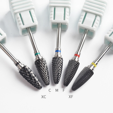 5 Type Black Ceramic Nail Drill Bits Milling Cutter For Rotary Electric Manicure Machine Accessories Nail Art Tools