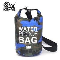 Bolsa seca impermeable al aire libre de ksnail 2L/5L/10L bolsa impermeable para flotar bucear bolsas plegables para hacer Rafting