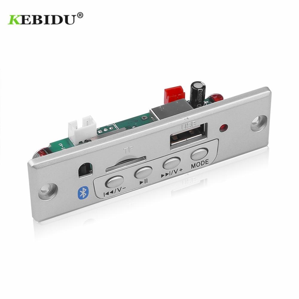 KEBIDU Bluetooth5.0 MP3 Decoding Board Module Wireless Car USB MP3 Player TF Card Slot / USB / FM / Remote Decoding Board Module(China)