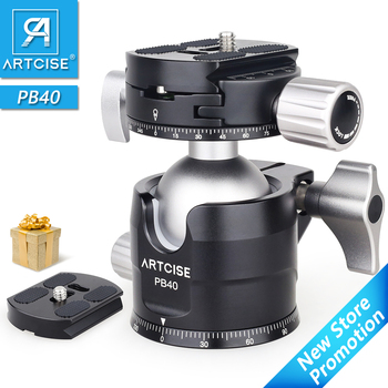 Low Profile Ball Head 360 Degree Rotatable Tripod Head for DSLR Cameras PB40 Double Panoramic ballHead for Tripods Monopods zomei camera tripod portable portable professioional aluminium monopod 4 sections tripods with 360 degree ball head for dv dslr