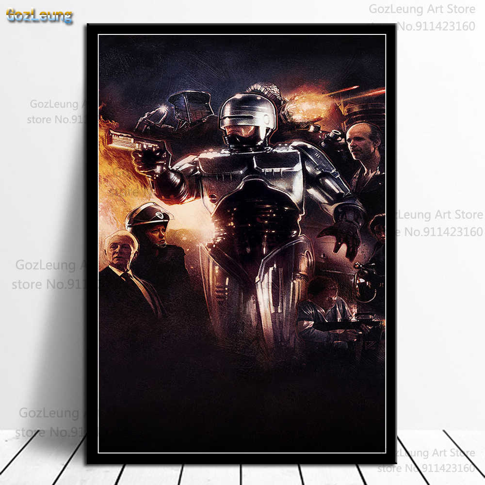 ROBOCOP  art print painting canvas or  poster FILM MOVIE wall decor A3