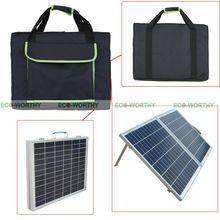 Чемодан Портативный 50 Вт складной Панели солнечные для детей возрастом от 12V Батарея Мощность с контроллером