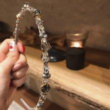 MENGJIQIAO-bandes à cheveux carrées en cristal pour femmes et étudiantes, accessoires de coiffure tendance coréenne pour la fête des filles, nouvelle collection