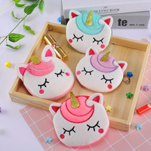 Unicorn creative gift women's wallet plush student coin purse animation peripheral hot-selling products toy gift small purse