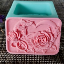 HC0125 PRZY Flower Soap Silicone Mold flowers Molds Heart Rose butterfly Clay Resin Gypsum Chocolate Candle Candy