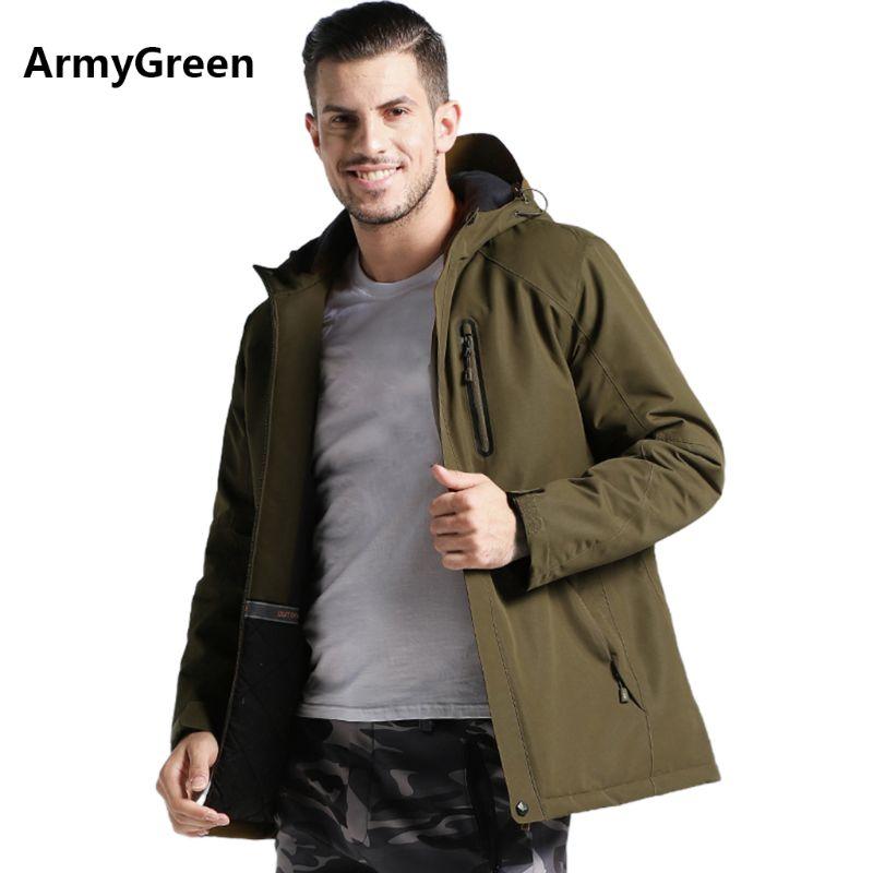 Male Men Winter Thick USB Heating Cotton Jacket Outdoor Waterproof Windbreaker Coats