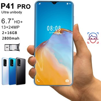 P41pro 6.7 inch water drop screen 2 + 16GB mobile phone smart phone Face recognition technology phone 1