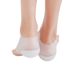 1 пара силиконовых половинные стельки, невидимые увеличивающие рост подушечки, дышащая спортивная обувь, увеличивающие рост подушечки, вставка на пятке, подушка для массажа ног