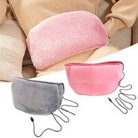 Calefacción de cinturón ajustable almohadillas USB Calefacción magnética terapia para cólico Menstrual Lumbar Abdominal dolor de pierna alivio