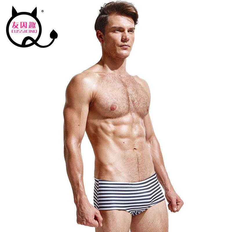 Designer Brand Eussieinq Friends For Fun Men Fashion Sexy Low Waist Boxer Printed Swimming Trunks