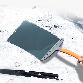Samochód łopata do śniegu przednia szyba samochodu skrobak do usuwania śniegu łopata do lodu okno urządzenia do oczyszczania dla wszystkie samochody wymienny łopata do śniegu tanie i dobre opinie Goxfaca CN (pochodzenie) 4 0cm 25 0cm 0 4kg High Quality Dropship Wholesale Epacket
