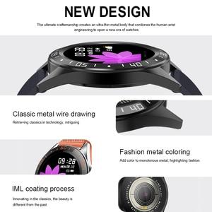 "Image 5 - Lerbyee GT105 フィットネストラッカー 1.22 ""心拍数モニター血圧スマートブレスレット男性女性天気スマート腕時計ホット販売 2019"