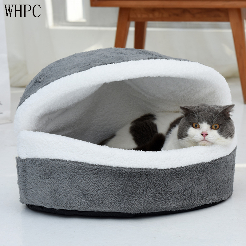 WHPC Pet <font><b>Cat</b></font> <font><b>Bed</b></font> <font><b>House</b></font> Dog <font><b>Bed</b></font> Kennel Puppy Cave Warm Sleeping <font><b>Bed</b></font> Winter Warm <font><b>Bed</b></font> For <font><b>Cats</b></font> Small Dog <font><b>House</b></font> for <font><b>Cats</b></font> Products image