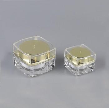 10g gold/silver plastic acrylic jar/pot/bottle for essence/eye serum/cream/sample test tin/art nail skin care cosmetic packing